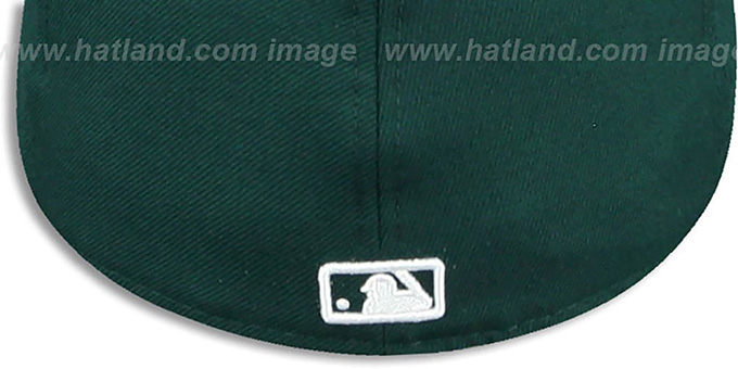 Yankees 'TEAM-BASIC' Dark Green-White Fitted Hat by New Era