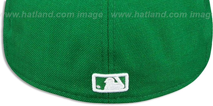 Yankees 'TEAM-BASIC' Kelly Green-White Fitted Hat by New Era