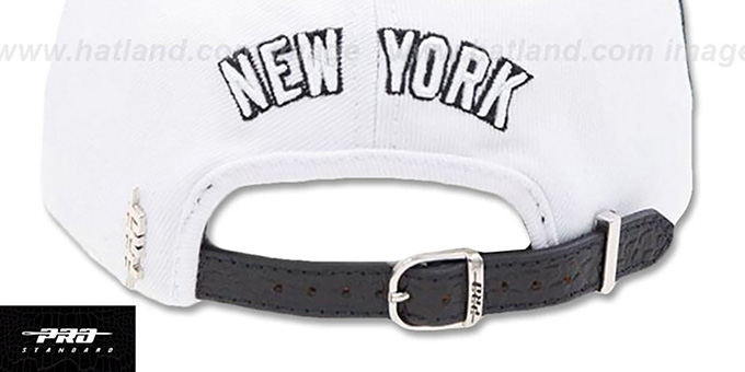 Yankees 'TEAM-BASIC STRAPBACK' White-Navy Hat by Pro Standard