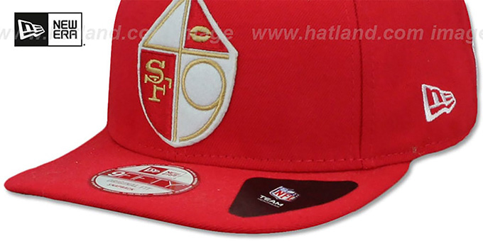 49ers 1965-72 'RETRO-BASIC SNAPBACK' Red Hat by New Era