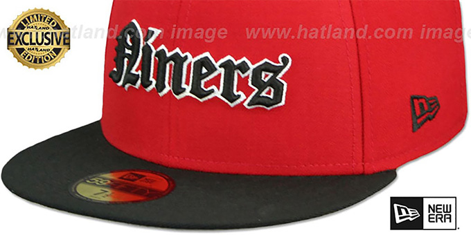 49ers 'GOTHIC TEAM-BASIC' Red-Black Fitted Hat by New Era
