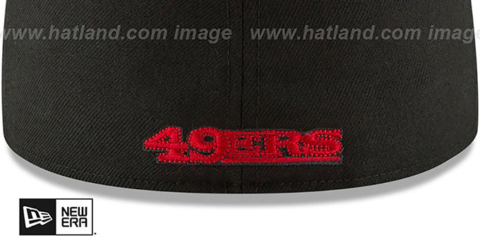 49ers 'NFL ALTERNATE TEAM-BASIC' Black Fitted Hat by New Era