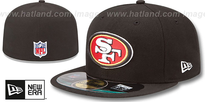 San Francisco 49ers NFL BCA Black Fitted Hat by New Era e9a904a8e38