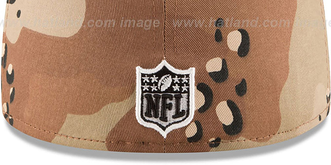 49ers 'NFL TEAM-BASIC' Desert Storm Camo Fitted Hat by New Era