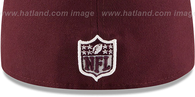 49ers 'NFL TEAM-BASIC' Maroon-White Fitted Hat by New Era
