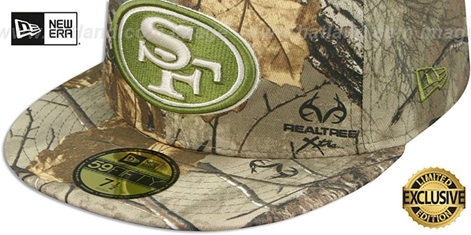 49ers 'NFL TEAM-BASIC' Realtree Camo Fitted Hat by New Era