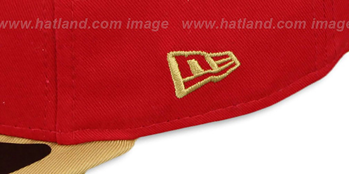 49ers 'RALLYMARK SNAPBACK' Red-Gold Hat by New Era