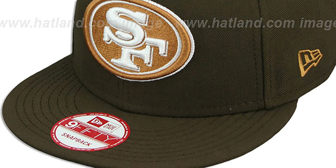 49ers 'TEAM-BASIC SNAPBACK' Brown-Wheat Hat by New Era
