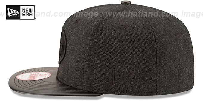 49ers 'THROWBACK LEATHER-MATCH SNAPBACK' Black Hat by New Era