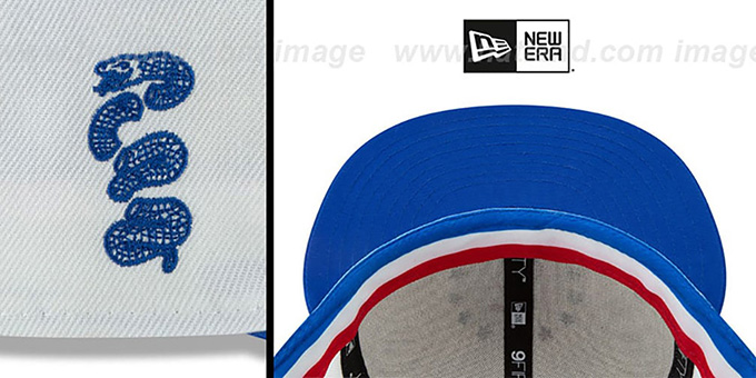 76ers '18-19 CITY-SERIES SNAPBACK' White-Royal Hat by New Era