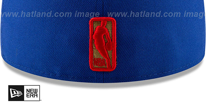 76ers 'GOLD METALLIC STOPPER' Royal Fitted Hat by New Era