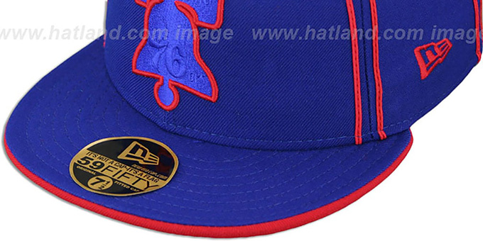 76ers 'HWC CHALKLINE' Royal-Red Fitted Hat by New Era
