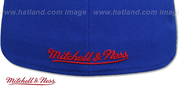 76ers 'HWC SIDE-PATCH' Royal Fitted Hat by Mitchell and Ness