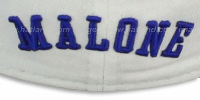 76ers MALONE 'TEAM-UP' White Fitted Hat by New Era