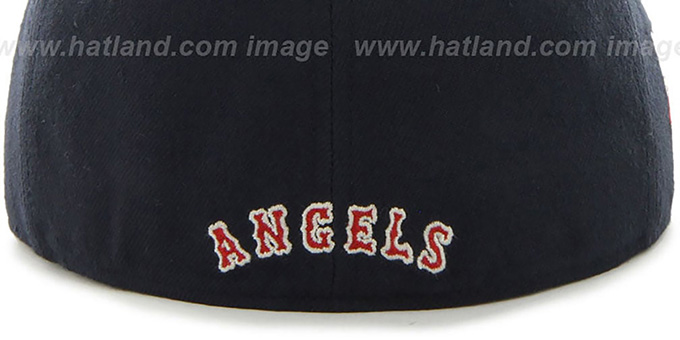 Angels COOP 'CATERPILLAR' Navy Fitted Hat by 47 Brand