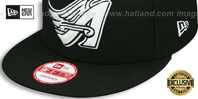 Angels COOP 'TEAM-BASIC SNAPBACK' Black-White Hat by New Era