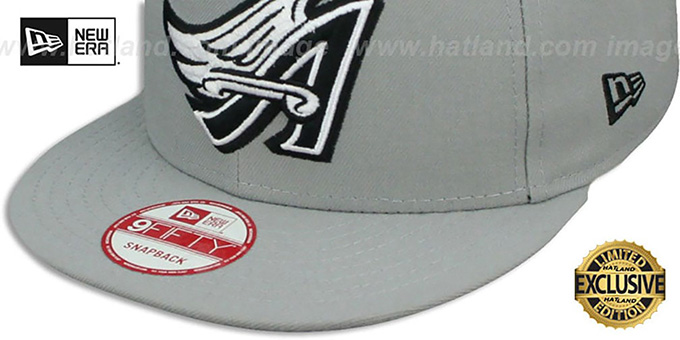 Angels COOP 'TEAM-BASIC SNAPBACK' Grey-Black Hat by New Era