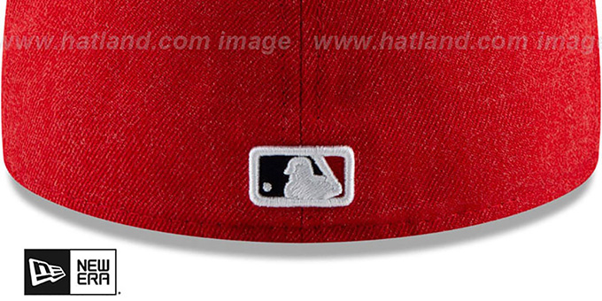 Angels 'HEATHER-CRISP' Red Fitted Hat by New Era