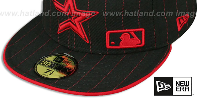 Houston Astros FABULOUS Black-Red Fitted Hat by New Era 997f1251c64
