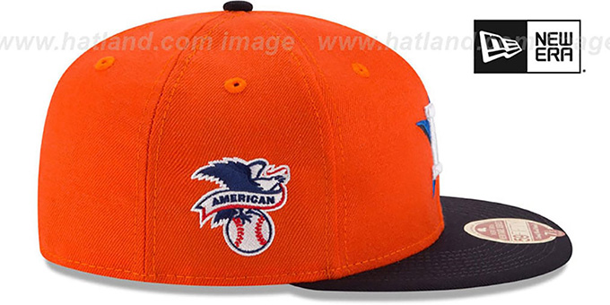 Astros 'MLB WOOL-STANDARD' Orange-Navy Fitted Hat by New Era