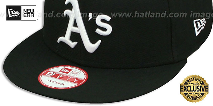 Athletics 'TEAM-BASIC SNAPBACK' Black-White Hat by New Era