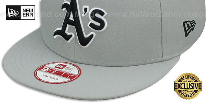 Athletics 'TEAM-BASIC SNAPBACK' Grey-Black Hat by New Era
