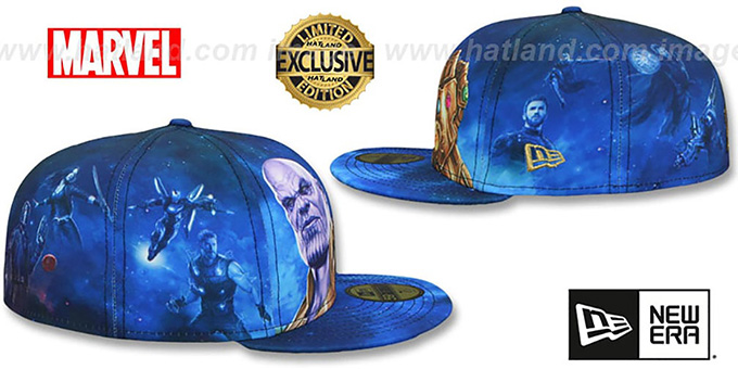 9b634f3609e Marvel Avengers INFINITY WAR ALL-OVER Fitted Hat by New Era