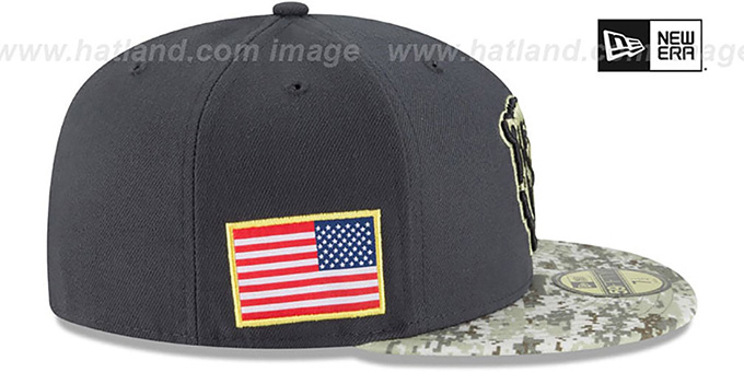 00bdbe3e4c5 ... Bears  2016 SALUTE-TO-SERVICE  Grey-Desert Fitted Hat by New