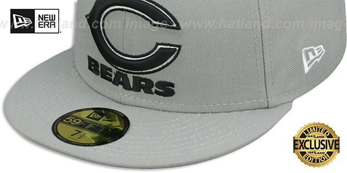 Bears 'NFL TEAM-BASIC' Grey-Black-White Fitted Hat by New Era