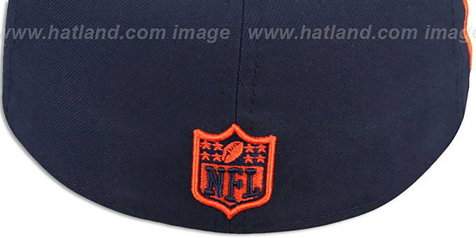 Bears 'SIDE TEAM-PATCH' Navy Fitted Hat by New Era