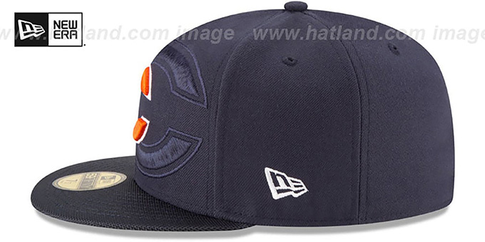 Bears 'STADIUM SHADOW' Navy Fitted Hat by New Era