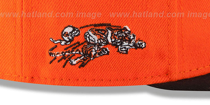 Bengals '2T RETRO-SCRIPT SNAPBACK' Orange-Black Hat by New Era