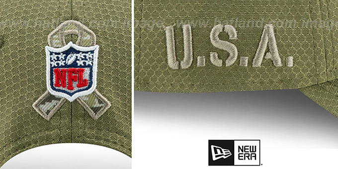 Bills '2019 SALUTE-TO-SERVICE STRAPBACK' Olive Hat by New Era