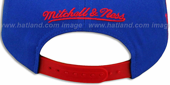 Bills 'LASER-STITCH SNAPBACK' Royal-Red Hat by Mitchell & Ness