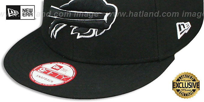 Bills 'TEAM-BASIC SNAPBACK' Black-White Hat by New Era