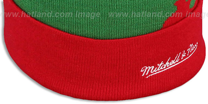 Blackhawks 'PAINTBRUSH BEANIE' by Mitchell and Ness