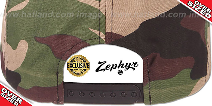Blank 'OVER-SIZED SNAPBACK' Army Camo Hat by Zephyr