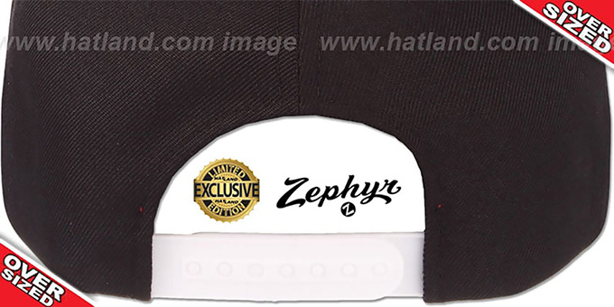 Blank 'OVER-SIZED SNAPBACK' Black Hat by Zephyr