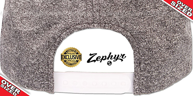 Blank 'OVER-SIZED SNAPBACK' Heather Charcoal Grey Hat by Zephyr