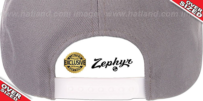 Blank 'OVER-SIZED SNAPBACK' Light Grey Hat by Zephyr