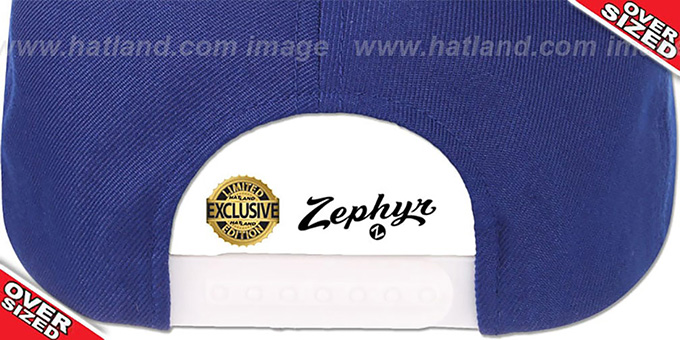 Blank 'OVER-SIZED SNAPBACK' Royal Hat by Zephyr