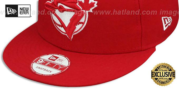 514473fc3c6e04 ... Blue Jays COOP 'TEAM-BASIC SNAPBACK' Red-White Hat by New Era