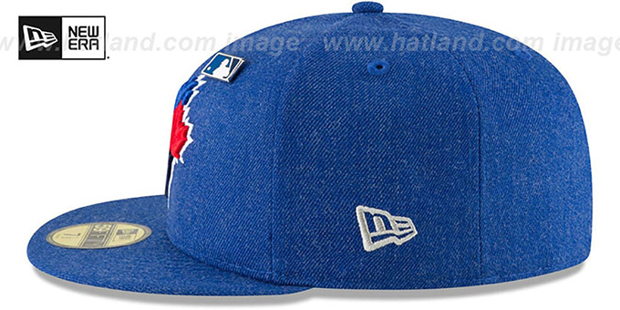 Blue Jays 'HEATHERED-PIN' Royal Fitted Hat by New Era