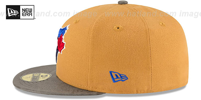 Blue Jays 'RUSTIC-VIZE' Wheat-Grey Fitted Hat by New Era