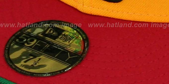 ece08c972 Atlanta Braves COOP RASTA FASHION Fitted Hat by New Era