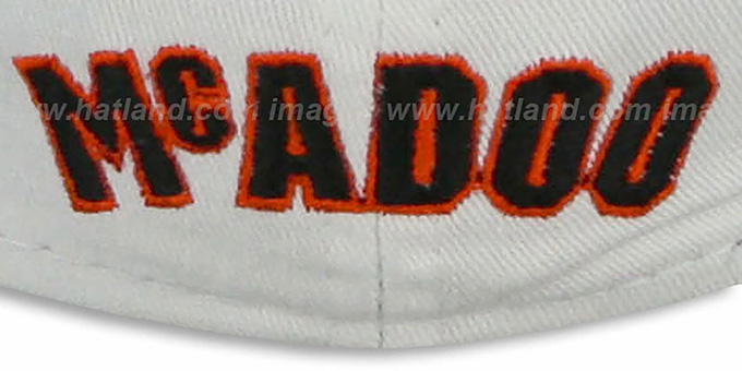 Braves McADOO 'TEAM-UP' White-Black  Fitted Hat by New Era