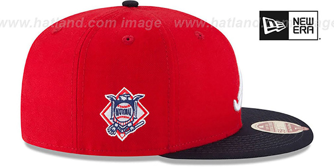 Braves 'MLB WOOL-STANDARD' Red-Navy Fitted Hat by New Era