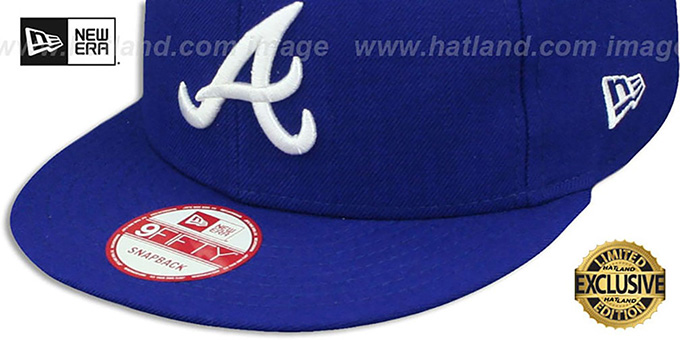 Braves 'TEAM-BASIC SNAPBACK' Royal-White Hat by New Era
