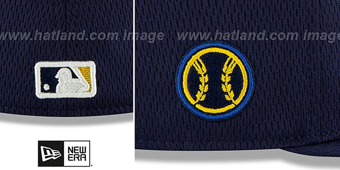 Brewers 'DASHMARK BP' Navy Fitted Hat by New Era