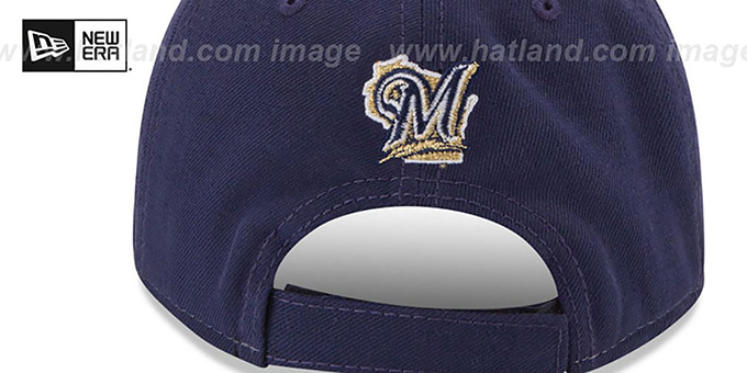 Brewers 'THE-LEAGUE STRAPBACK' White-Navy Hat by New Era